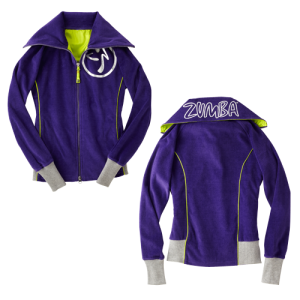 Zumba® - Zweety Velour Track Jacket - Indigo | Final Sale