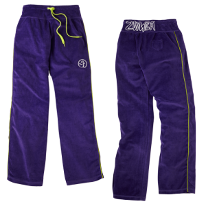 Zumba® - Zweety Velour Track Pants - Purple | Final Sale
