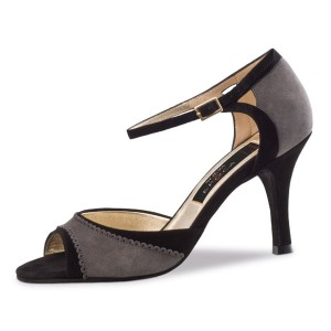 Nueva Epoca - Ladies Dance Shoes Alessia - Suede Black/Gray