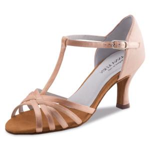 Anna Kern - Ladies Dance Shoes 470-60 - Tan Satin