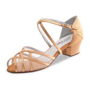 Anna Kern - Mulheres Sapatos de Dança 520-35 - Cetim Bronze