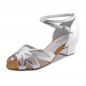 Anna Kern - Ladies Dance Shoes 599-35 - Leather Silver