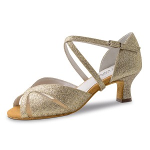 Anna Kern - Ladies Dance Shoes 620-50 - Brocade Gold