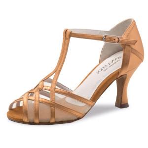 Anna Kern - Mulheres Sapatos de Dança 640-60 - Cetim Bronze