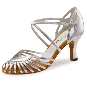 Anna Kern - Ladies Dance Shoes 641-60 - Silver Leather