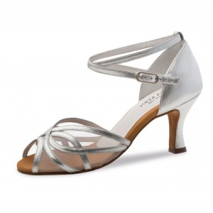 Anna Kern - Ladies Dance Shoes 740-60 - Silver Leather