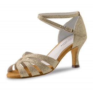 Anna Kern - Ladies Dance Shoes 750-60 - Brocade Gold