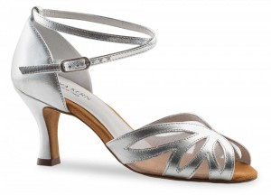 Anna Kern - Ladies Dance Shoes 790-60 - Silver Leather