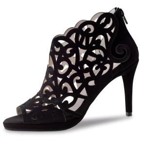 Anna Kern - Mulheres Sapatos de Dança 830-80 - Camurça Preto
