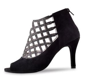 Anna Kern - Mulheres Sapatos de Dança 845-75 - Camurça Preto