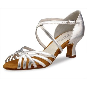 Anna Kern - Ladies Dance Shoes 908-50 - Leather Silver