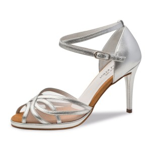 Anna Kern - Ladies Dance Shoes 950-80 - Silver Leather