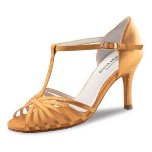 Anna Kern - Mulheres Sapatos de Dança 850-75 - Cetim Bronze