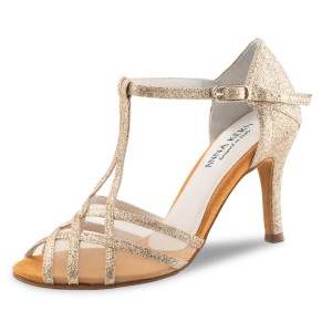 Anna Kern - Ladies Dance Shoes 870-75 - Brocade Gold