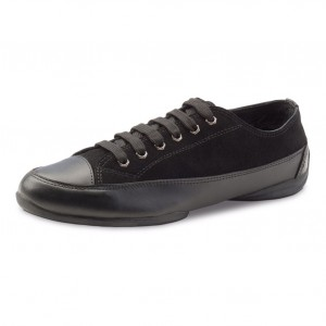 Anna Kern - Hombres Dance Sneakers 4024-15 - Cuero Negro