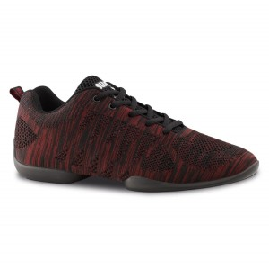 Anna Kern - Men´s Dance Sneakers 4035 Bold - Red/Black