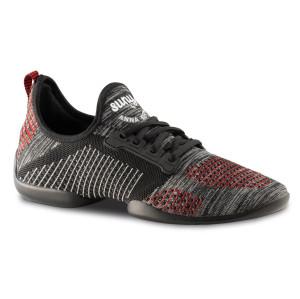 Anna Kern - Heren Dance Sneakers 4015 Pureflex - Rood/Grijs