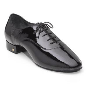 Dance Naturals - Homens Sapatos de Dança 117 - Laca Preto