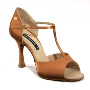Dance Naturals - Mulheres Sapatos de Dança 200 - Cetim Bronze