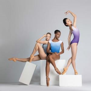 Ballet Rosa - Womens Ballet Body/Leotard SOLANGE V-Neck with cap sleeves