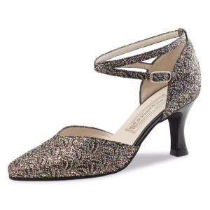 Werner Kern - Damen Tanzschuhe Betty - Brokat Multi