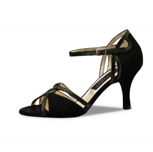 Nueva Epoca - Ladies Dance Shoes Christina - Black Suede