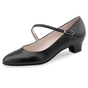 Werner Kern - Femmes Chaussures de Danse Cindy - Cuir Noir