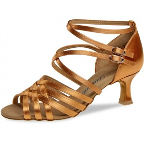 Diamant - Dames Dansschoenen 108-077-379 - Dark Tan Satijn