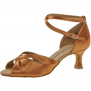 Diamant - Ladies Dance Shoes 141-077-379 - Dark Tan Satin