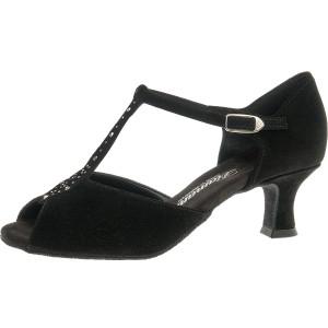 Diamant - Mujeres Zapatos de Baile 010-064-101 - Ante Negro