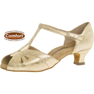 Diamant - Ladies Dance Shoes 019-011-017 - Leather Gold