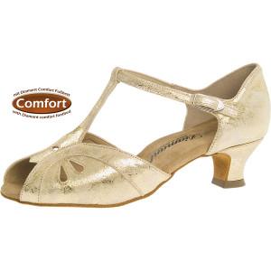 Diamant - Damen Tanzschuhe 019-011-017 - Leder Gold