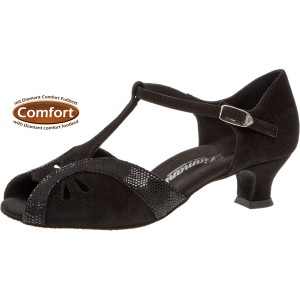 Diamant - Ladies Dance Shoes 019-011-208 - Black Suede