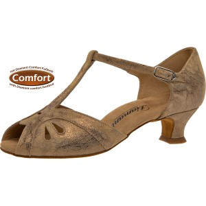Diamant - Ladies Dance Shoes 019-011-311 - Bronce Suede