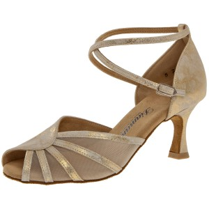 Diamant - Ladies Dance Shoes 020-087-017 - Suede Gold