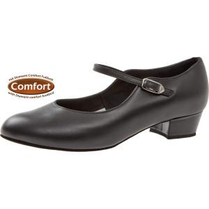 Diamant - Femmes Chaussures de Danse 050-029-034 - Cuir Noir