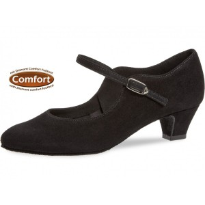 Diamant - Ladies Dance Shoes 050-047-001 - Black Suede