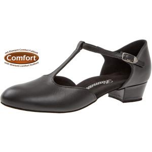 Diamant - Femmes Chaussures de Danse 053-029-034 - Cuir Noir