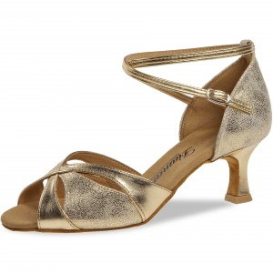 Diamant - Damen Tanzschuhe 141-077-464 - Gold/Gold Antik - 5 cm Flare [UK 5]