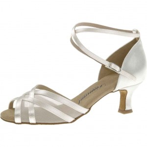 Diamant - Ladies Dance Shoes 035-077-092 - White Satin