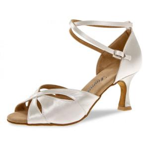 Diamant - Ladies Dance Shoes 141-087-092 - White Satin - 6,5 cm Flare [UK 5]