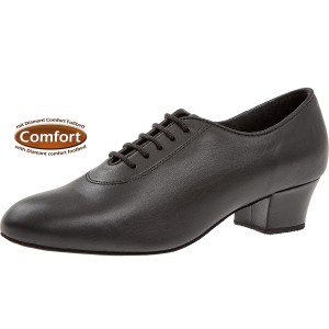 Diamant - Damen Trainerschuhe 093-034-034-A - Leder Schwarz - 3,7 cm Cuban [UK 5,5]