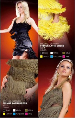 Santoria - Latin Fringe Dress