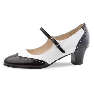 Werner Kern - Mulheres Sapatos de Dança Emma - Preto/Branco