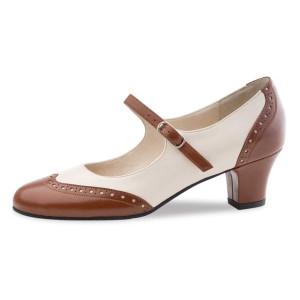 Werner Kern - Mulheres Sapatos de Dança Emma - Marrom/Creme