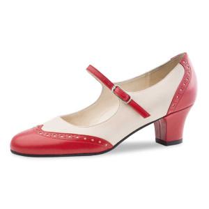 Werner Kern - Mulheres Sapatos de Dança Emma - Vermelha/Creme