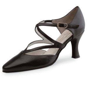 Werner Kern - Femmes Chaussures de Danse Fabiola - Cuir Noir