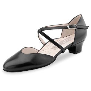 Werner Kern - Femmes Chaussures de Danse Felice - Cuir Noir