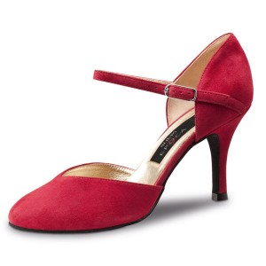 Nueva Epoca - Ladies Dance Shoes Gitana - Red Suede