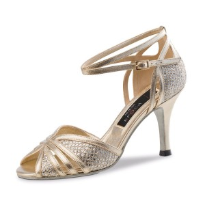 Nueva Epoca - Ladies Dance Shoes Gloria - Leather Platinum